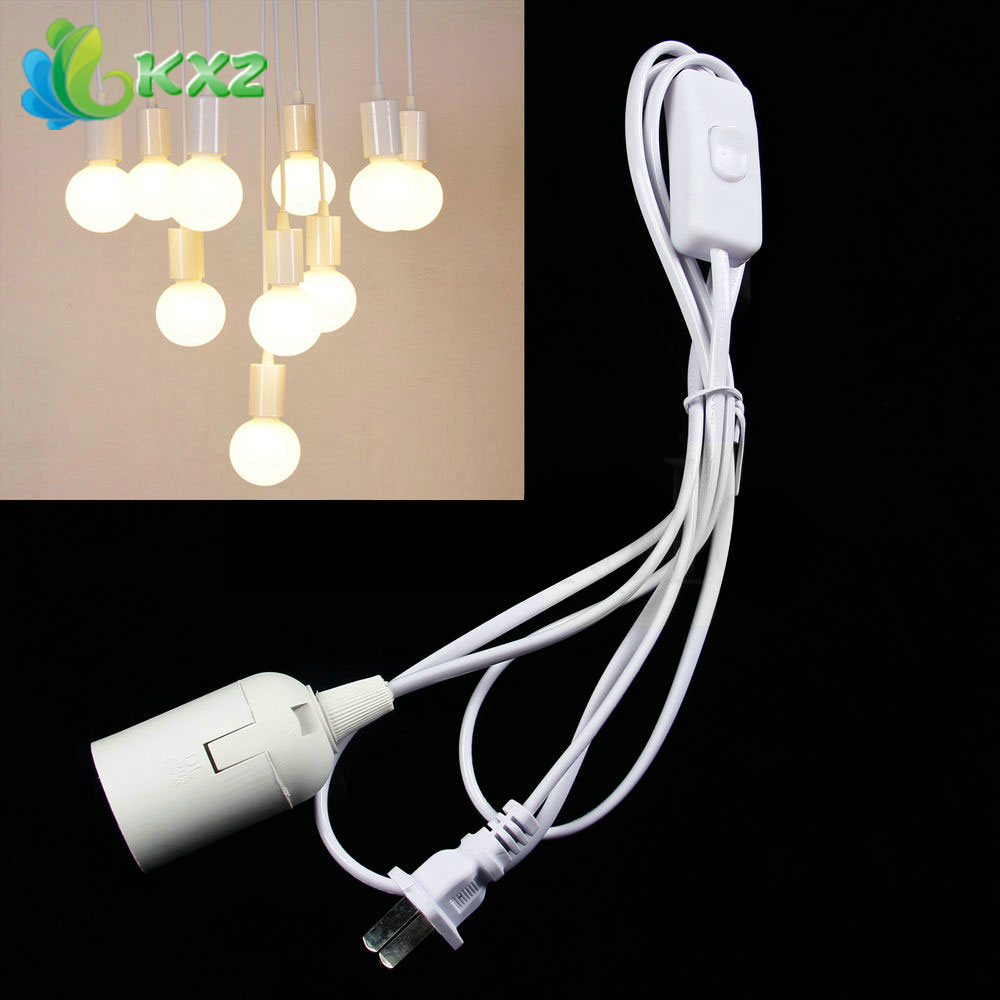 E26 E27 Light Bulb Socket to AC Outlet Plug Power Cord Adapter On/Off Switch(China (Mainland))