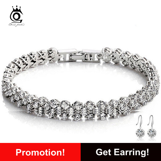 Luxury Austria Crystal Bracelet,Genuine 925 Sterling Silver with 3 Layer Platininum Plated<br><br>Aliexpress
