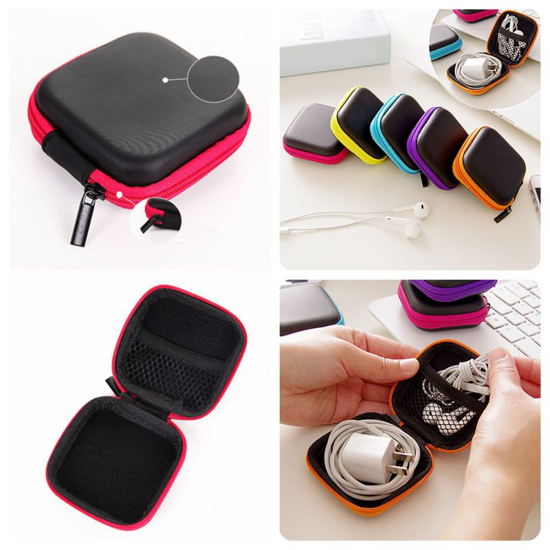 Mini Case Storage Case For Headphones Carrying Hard Bag Box Case For Keys Coin Travel Bag Accessories