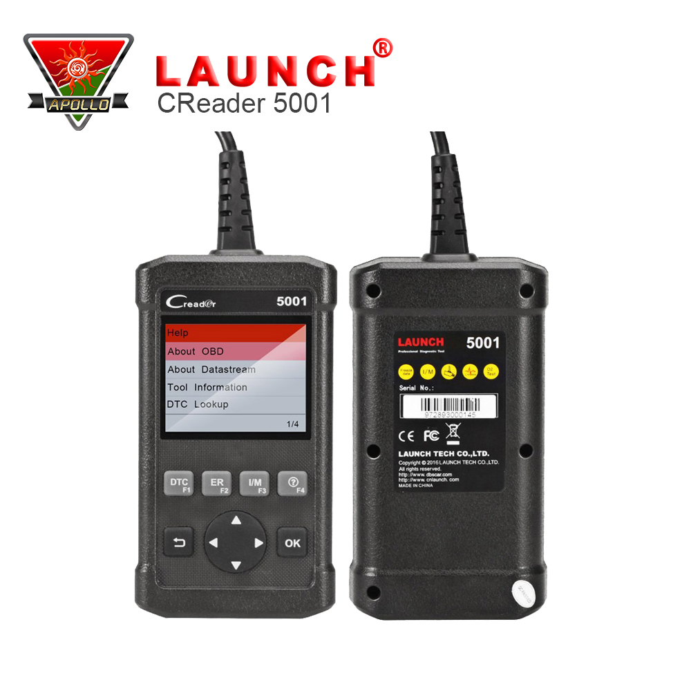 Launch OBDII OBD2 Scan CReader 5001 Code Reader Support all OBD2 cars Diagnostic scanner Tools DIY Scanner(China (Mainland))