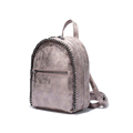 Fashion MINI Backpack Korean Style Paillette Knitting Edge Bag Backside Zipper Pocket Women Designer Retro Small
