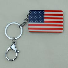 United States of America National Flag Key Chains Fashion Jewelry USA Keychain Map Acrylic,Sales / Advertising gifts(China (Mainland))