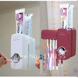 free shipping wholesale new automatic toothpaste dispenser,toothbrush holder sets,toothbrush family sets NT-1006
