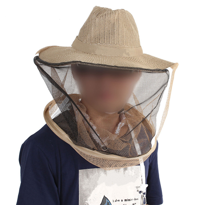 Beekeeping Garden Cowboy Hat Anti Mosquito Bee Insect Bug Face veil Head Guard Protecter