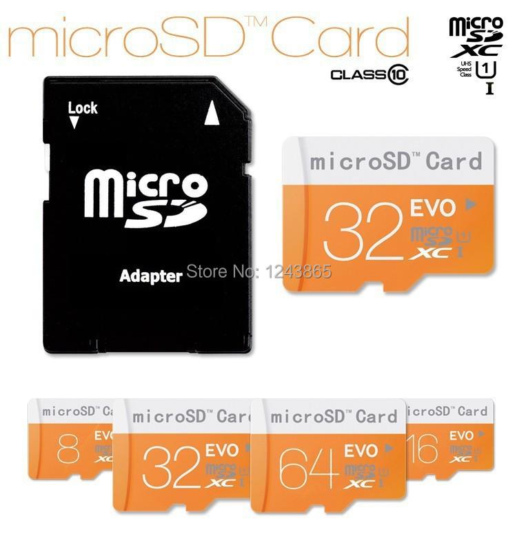 Memory card class10 64GB Micro SD card 32GB 16GB 8GB TF card Microsd Pen drive Flash memory disk+ Adapter + gift Reader(China (Mainland))