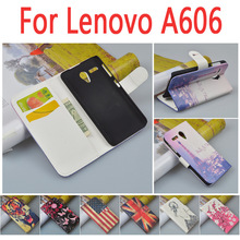 Buy High luxury leather case Lenovo A606 / 606 flip cover case housing card slot LenovoA606 phone covers cases for $6.02 in AliExpress store