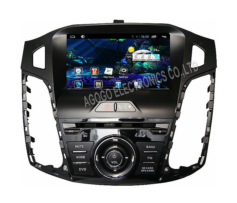 FOR Ford Focus 2012 Android 4 4 car dvd Navigation audio gps Capacitive screen car stereo