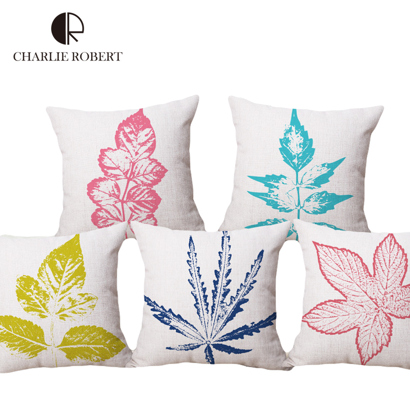 Decorative Pillow Sets For Couch : Aliexpress.com : Buy 45*45cm Decorative Cushions 2016 New Brand Sofa Decor Leaf Style Throw ...
