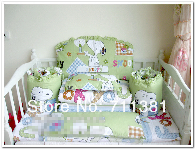 With Filler!!!!Free Shipping For Baby Little Bed,Good Quality Environmental , 12 PCS Toddler Bedding Set Crib<br><br>Aliexpress