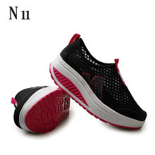 Height Increasing 2016 Summer Shoes Women's Causal Shoes Sport Fashion Walking Shoes For Women Swing Wedges Shoes Breathable(China (Mainland))