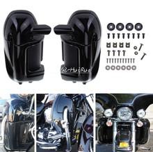 Brlight black Left & Right Lower Vented Leg Fairings For Harley Touring Road King Electra Glide FLHR FLHT
