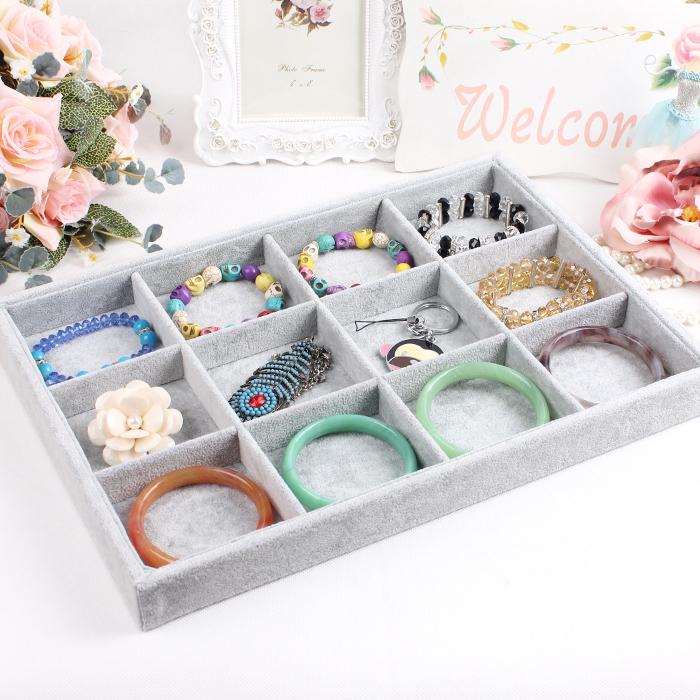 A16-2 Free shipping Jewelry Display Case All sorts of small adorn article can be placed on the dish High-grade fabrics Show Case(China (Mainland))