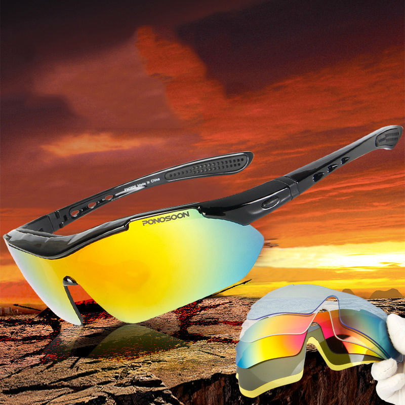 2016 Protective Sports Sunglasses Running Fishing Cycling Glasses Eyewear 5 Interchangeable Lens Polarized gafas oculos ciclismo - Philizze Store store