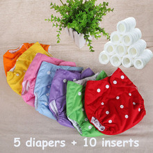 7Colors Washable Nappies Cotton Cloth Diaper Reusable Baby Diapers Cover Free Size Adjustable Fralda Winter Summer Version(China (Mainland))