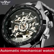 New Men Watches 2015 Luxury Winner Watch Steampunk Clock Mens Business Dress Wristwatch Mechanical Male Wrist Casual Watch K4456
