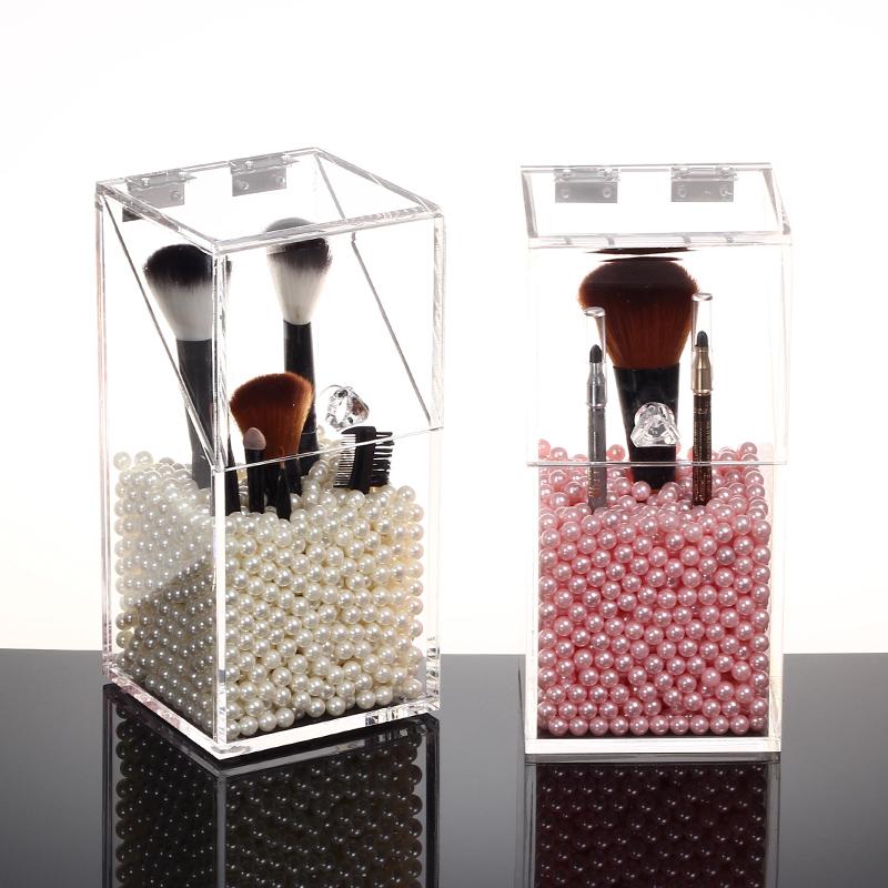 Clear makeup box