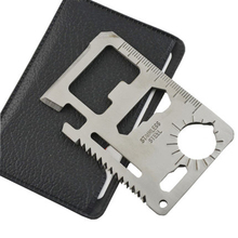 Multi Tools 11 in 1 Multifunction Outdoor Hunting Survival Camping Pocket Military Credit Card Knife Silver(China (Mainland))