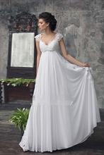Buy 2017 Empire Maternity Wedding Dresses Beaded Lace Chiffon Beach Bridal Gowns Pregnant Women Elegant A-line Floor Length for $139.00 in AliExpress store