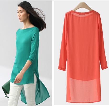 Blusas feМиниnas 2015 конфеты цвет женщины блузка тропический топы свободного покроя ...