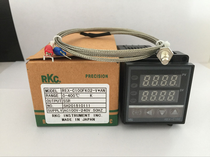 Dual Digital RKC PID Temperature Controller REX-C100 with K thermocouple, SSR Output<br><br>Aliexpress