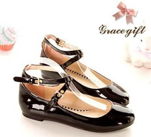 Flats shoes woman Patent Leather High Heel 1.5CM 31 32 33 46 45 44 43 42 40 41 EUR Size 30-47 - Emma's Fashion Women store