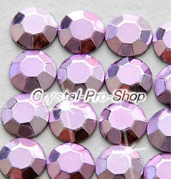 1440 pieces Light purple 2mm 6ss ss6 Faceted Hotfix Rhinestuds Iron On Round Beads new Aluminum Metal Art (u2m-Lt Violet-10 gr)