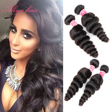 Brazilian Virgin Hair 7A Brazilian Loose Wave 4 Pcs Brazilian Hair Weave Bundles Rosa Queen Hair Products Curly Weave Human Hair