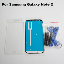 White Front Outer Glass Lens Display Panel for Samsung Galaxy note 2 n7100 Replacement Part & adhesive & Repair Tools Kit(China (Mainland))