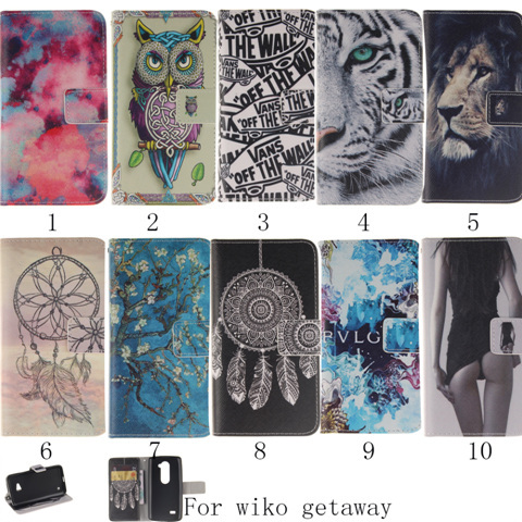 1 Wiko Getaway Wallet Card Holders leather Case Cover flip cover phone pouch - accloft .COM's store