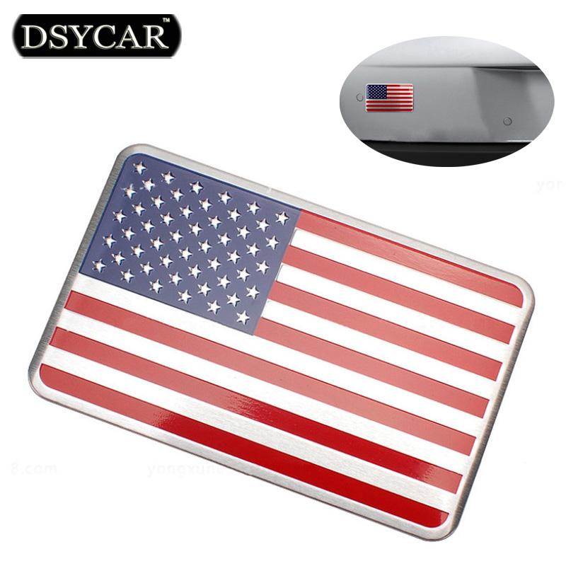 DSYCAR Metal American US Flag Car sticker logo Emblem Badge Car Styling sticker For Jeep Bmw Fiat VW Ford Audi Honda Toyota Lada(China (Mainland))