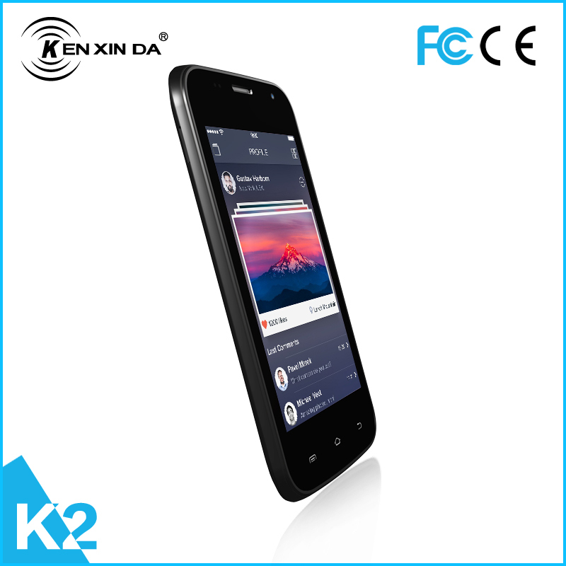 2015 Kenxinda K2 newest arrival 4.5inch IPS WVGA Android system dual sim card dual standby smart phone(China (Mainland))