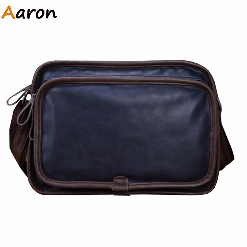 Aaron - Bolsas De Marca 2016 Retro Patchwork Men Messenger Bags,Newest Quality Soft Leather Male Cross-body/Shoulder Bolsos Sale
