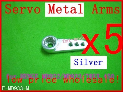 F01474-5,  Hot Sale New F-MD933-M Servo Metal Arms For  MD922 MD933  Trex 450 + FS via CPAM