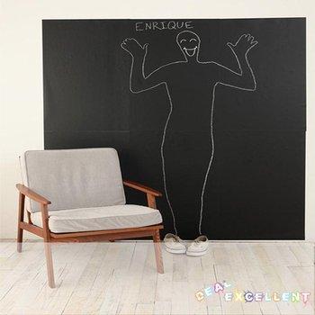 FREE SHIPPING, new arrival, 107CM*100CM blackboard sticker wall covering, vinyl chalkboard