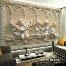European relief Angel Mural 3D wallpaper living room 3d wall papers papel de parede papel pintado pintura murals FREE SHIPPING(China (Mainland))