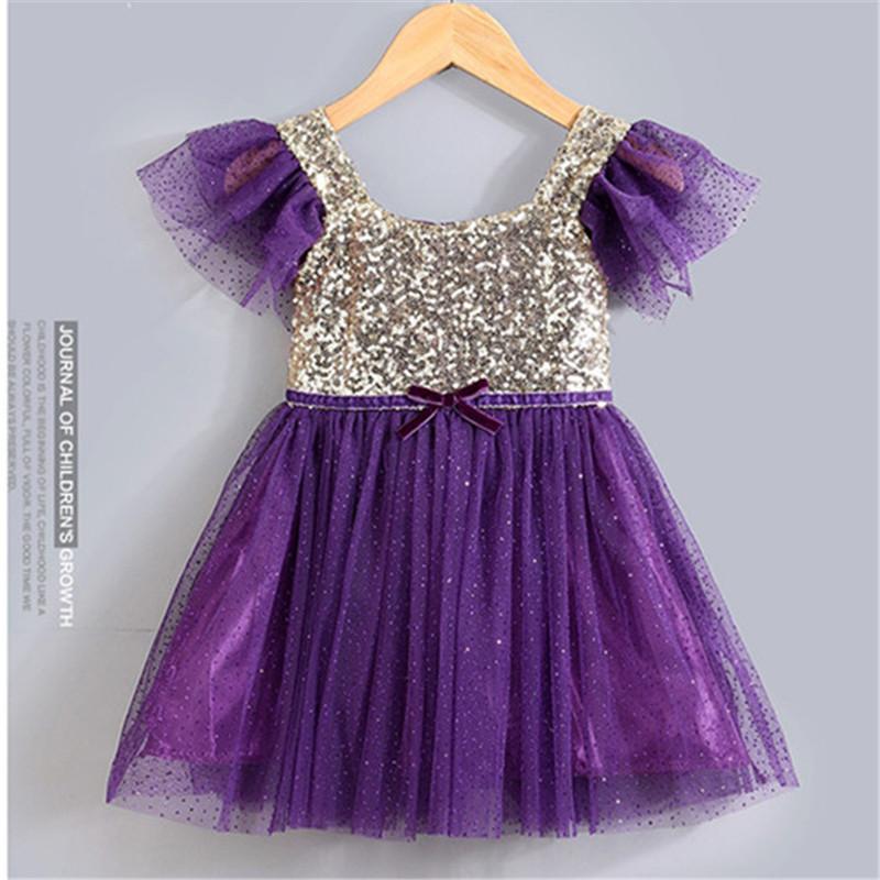 Princess dress tutu dress party costumes Korean big bow dress girls dress Belt childrens clothing kids Purple Rose Red pink<br><br>Aliexpress