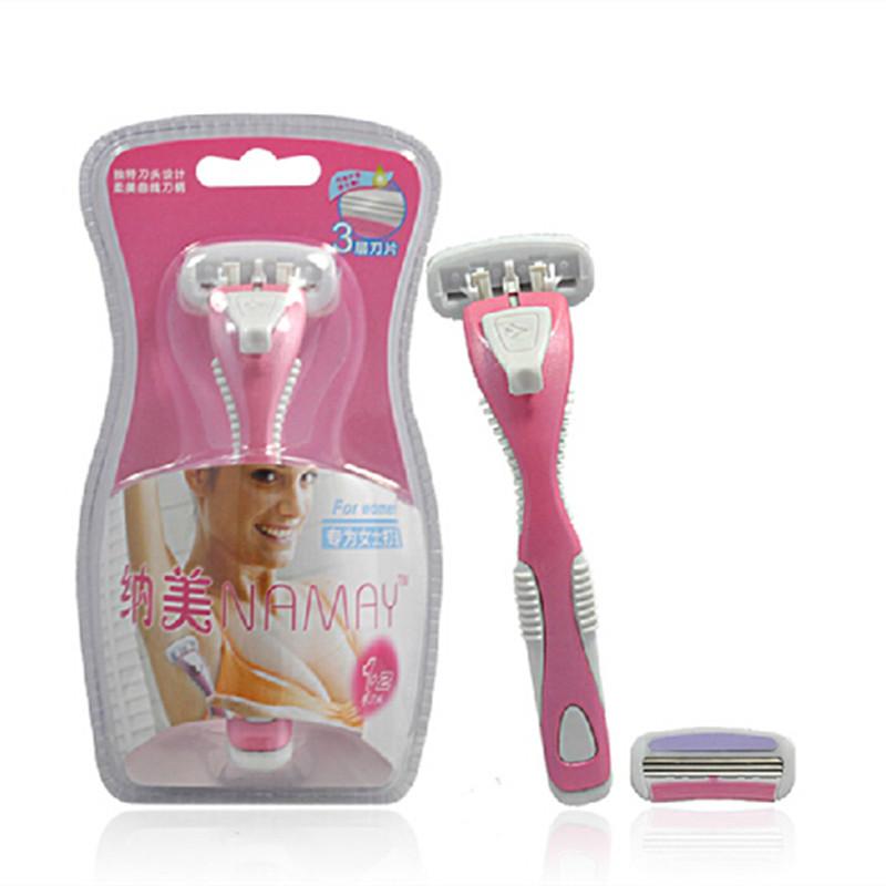 2 Blades 1 Holder Women Shaving Epilator For Women Bikini Depilador Eletrico Feminino Depilador Hair Shaver 3-bladeMicro Knife(China (Mainland))