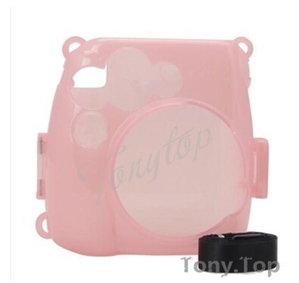 Fuji FujiFilm Instax MINI 8 Photo P olaroid Camera Crystal Protect Case - Pink(China (Mainland))