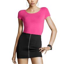 Buy Women Skirt Streetwear Zipper Casual High Waist Mini Skirt Elegant Sexy Party Club Basic Office Bodycon Skirt Wholesale for $7.35 in AliExpress store