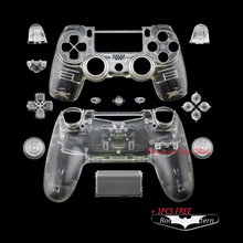 Custom Clear Replacement Shell for Sony PlayStation 4 for PS4 dualshock 4 Controller Wireless With Clear Buttons Mod kit