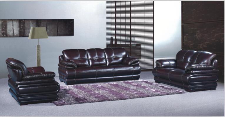 sofa set living room furniture leather sofa with italian leather(China (Mainland))