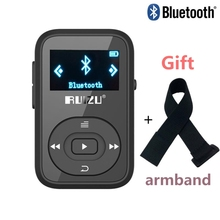 clip Bluetooth mp3 player RUIZU X26 8GB with Screen 30 Hours Playback Support SD Card FM Radio Voice Recorder mp3 music player(China (Mainland))