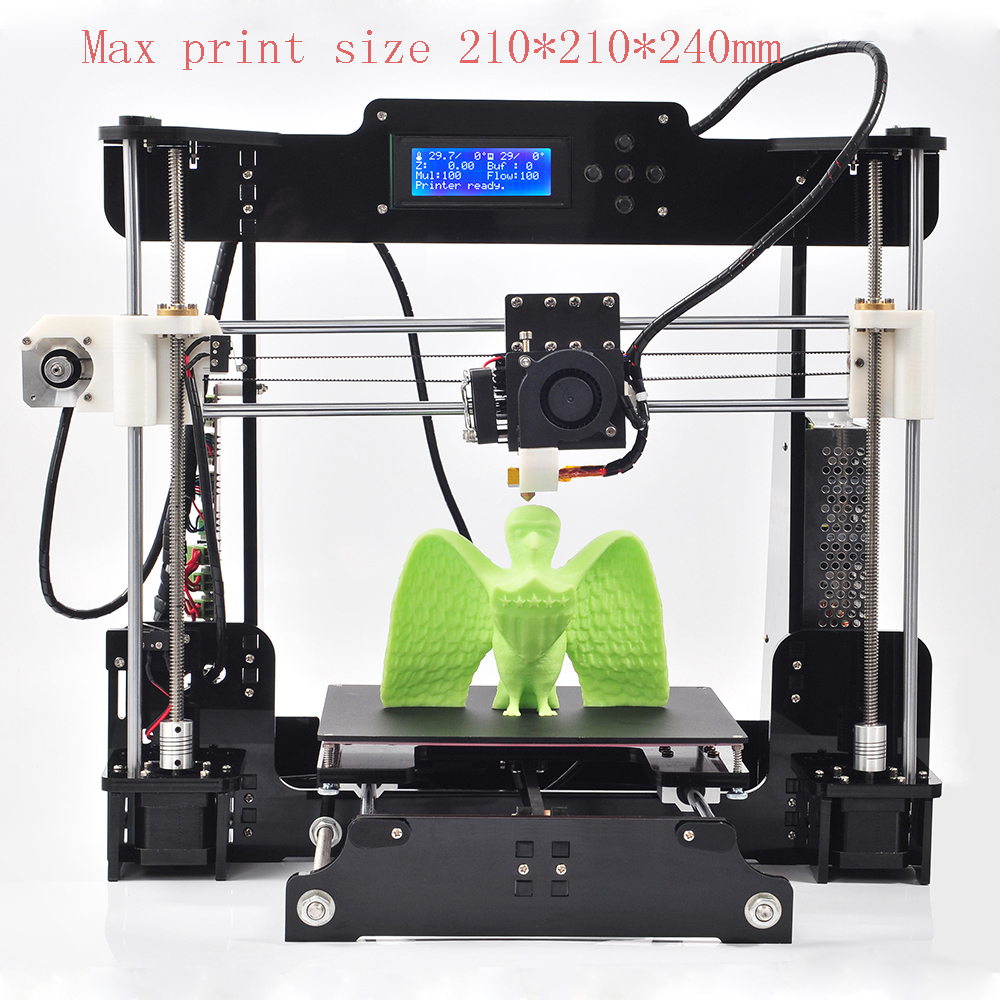NEW2016 Upgraded Quality High Precision Reprap Prusa i3 DIY 3d Printer kit with 2 Roll Filament