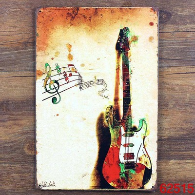 Retro Bar Cafe Restaurant Decorative Painting Guitar Painting Tin Sign 20*30 Daily Home Decoration(China (Mainland))