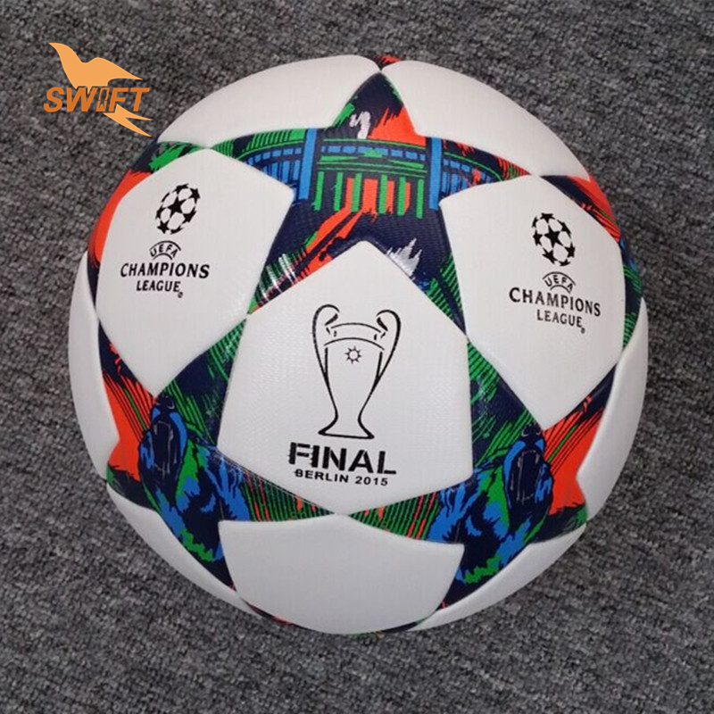 2015 2016 Season Champions League Ball Final Berlin Soccer Ball High Quality PU Football Size 5 Football For Match Free Shipping(China (Mainland))