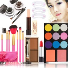 T2N2 Fashion Makeup Kits Gift Set Eyeshadow Foundation Eyebrow Powder Lip Gloss Brush