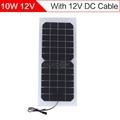 ELEGEEK 10W 12V Solar Cell Panel Semi flexible Transparent with DC Output 440 190mm Mini Solar