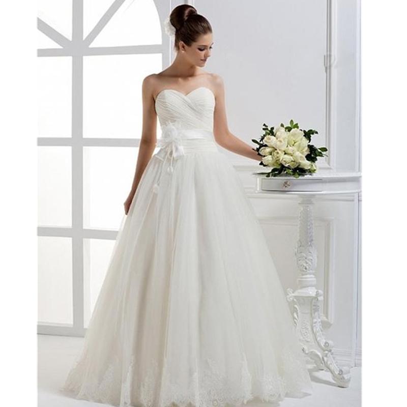 Hem A Lace Wedding Dress : New collection simple wedding dresses princess pleat lace hem