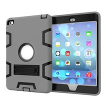 For Apple Ipad Mini4 Case 8 inch High Quality Hybrid Kickstand Rugged Rubber Armor Hard PC+TPU 2 In 1 Stand Function Cover Cases(China (Mainland))