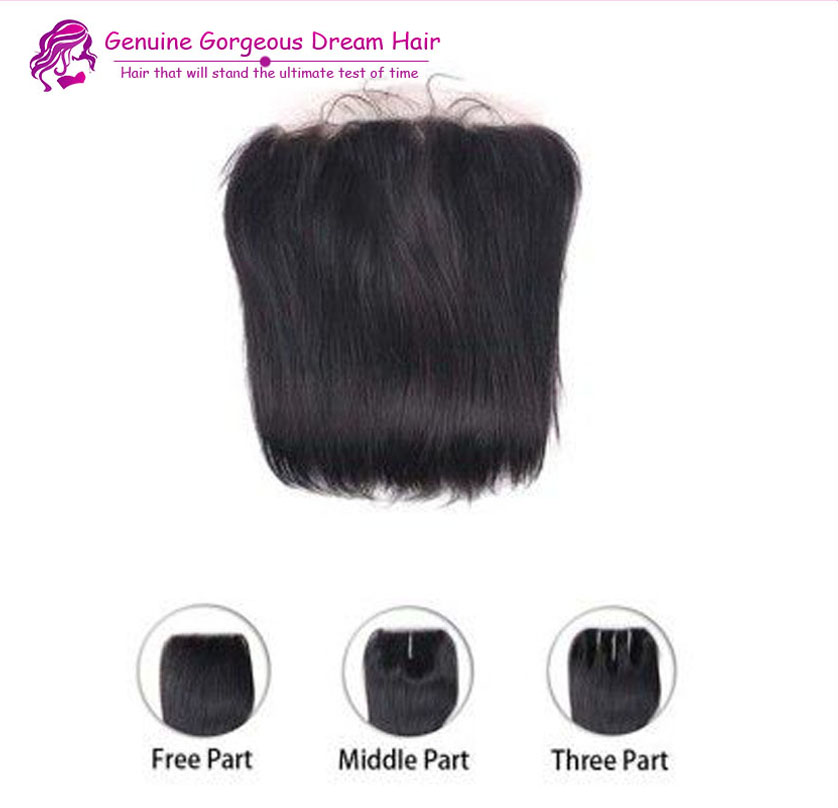 Cheap 6A Brazilian Straight Lace Frontal Closure With Baby Hair 13X4 Virgin Human Hair Full Lace Frontal Straight Free Shipping<br><br>Aliexpress